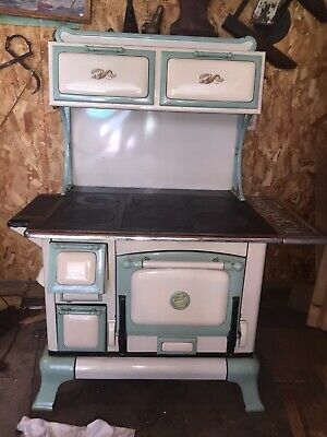 Antique Vintage Cast Iron Stove COPPER CLAD PB81 1920s Cook Stove range