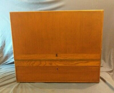 Large Wooden Tool / Instrument Box & Drawer