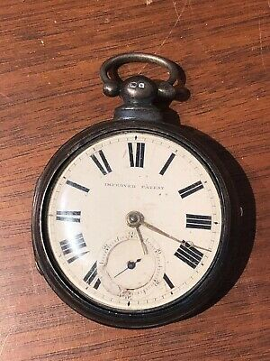 "Antique ""improved Patent"" British Sterling Silver Pocket Watch."