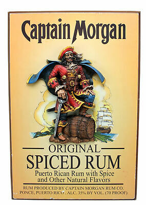 Captain Morgan Spiced Rum 3D Pub Bar Sign - Man Cave/Wall Art