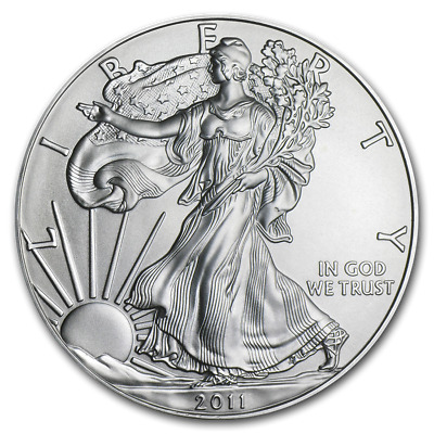 WALKING LIBERTY AMERICAN EAGLE 1oz SILVER 2011 BULLION INVESTMENT COIN #901