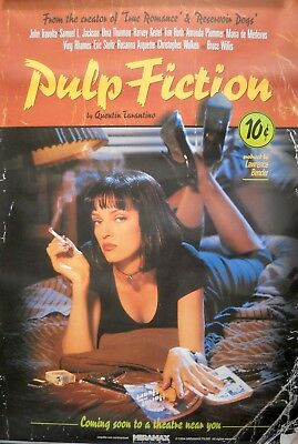 PULP FICTION REPRO MOVIE POSTER Rolled 1990s Quentin Tarantino Samuel L. Jackson