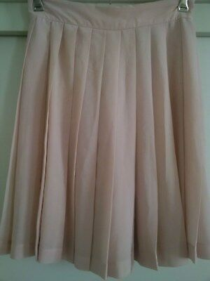 Vintage Covers Size 12 Knife Pleated Knee Length Pale Peach Skirt