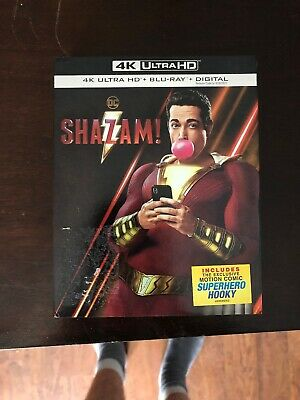 DC Shazam! NO DIGITAL COPY (4K ULTRA HD + Blu-ray 2019) w/ slipcover
