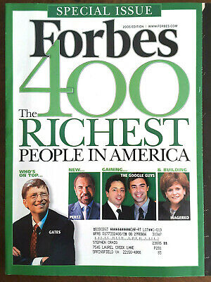Forbes 400 Richest People in America 2005 Gates Donald Trump