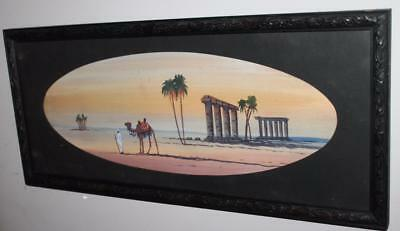 1900's Vintage Antique Water Colour Egyptian Scene Original