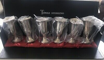 Set Of 6 Vintage Sterling Silver Towle Cordial/Sherry/Shot Cups