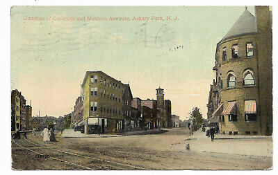 1913 Junction Of COOKMAN And MATTISON AVENUES ASBURY PARK NJ DBPC * Looking West
