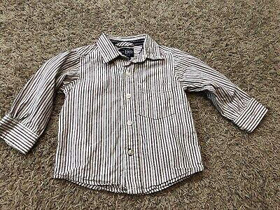 Children's Place collared button down pin striped baby boys shirt size 9-12 mon