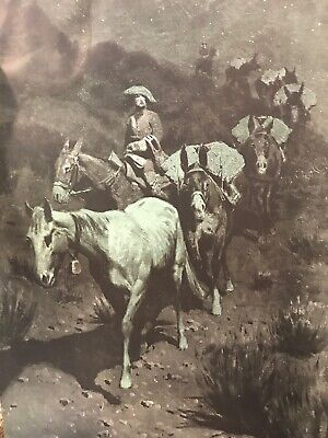1903 The Bell Mare Frederic Remington Paintings Artist's Proof Art Print 18X12