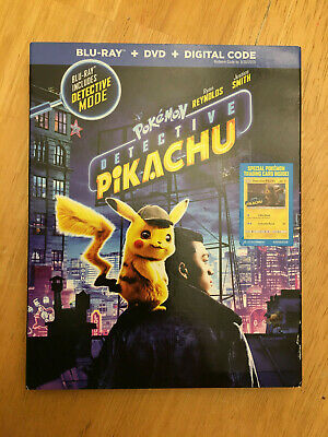 Pokemon Detective Pikachu (Blu-ray, DVD, NO Digital, 2019) Has Pokemon Cards