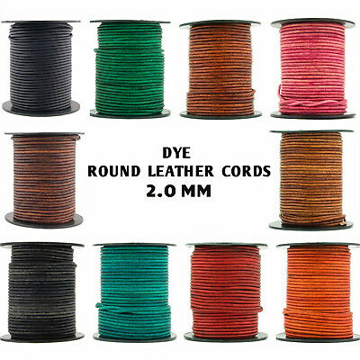 Xsotica® Dye Shades Round Leather Cord 2.0mm