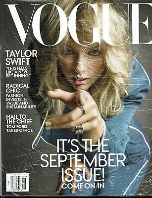 VOGUE Magazine September 2019 Issue TAYLOR SWIFT Cover/Article HUGE Fashion