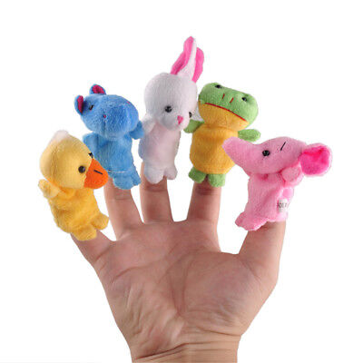 10PC Set Baby Kid Finger Animal Toy Puppet Cloth Plush Doll Educational Story
