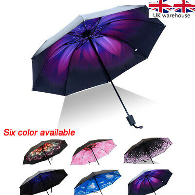 Double Layer Inverted Reverse Hand-free Upside Down Umbrella Windproof folding