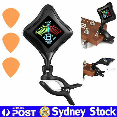 Clip On Chromatic Guitar Tuner USB Rechargeable Program For Ukelele Violin Bass