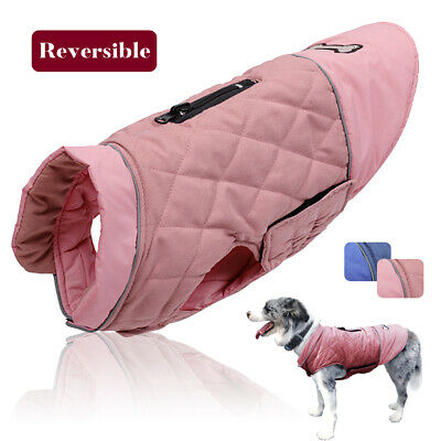 Waterproof Pet Winter Clothes Reversible Warm Small to Large Dogs Coat Jacket