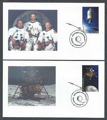 2019 Apollo 11 Limited and Scarce FDCs with stamps from Pane of 6.
