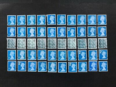 100 x  UNFRANKED   2nd class stamps   'OFF'   paper. No Gum -  Face Value £61