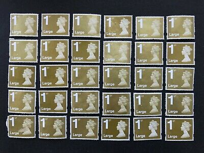 60  x UNFRANKED  'LARGE'  1st  class stamp  'OFF'  paper. No Gum  -  FV £63.60