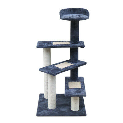 i.Pet 100cm Cat Scratching Tree Post Pole 3 Ladder Gym Toy Furniture Multilevel