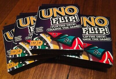 UNO FLIP! Double Sided CARD GAME Family Fun BRAND NEW Mattel 7+ Years
