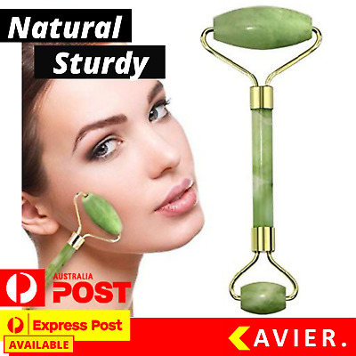 Face Massage Roller Facial Massager Jade Beauty Nose Tool Body Eye Neck Hand AU