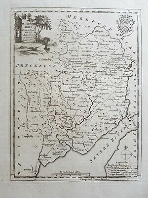 Antique map MONMOUTHSHIRE, Thomas Kitchin, 1769