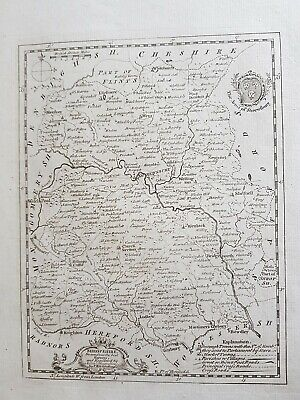 Antique map SHROPSHIRE, Thomas Kitchin, 1769