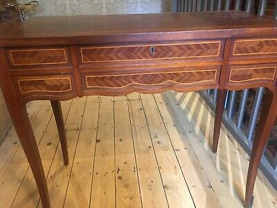Antique French Mahogany Inlaid Dressing Table/ Writing Desk