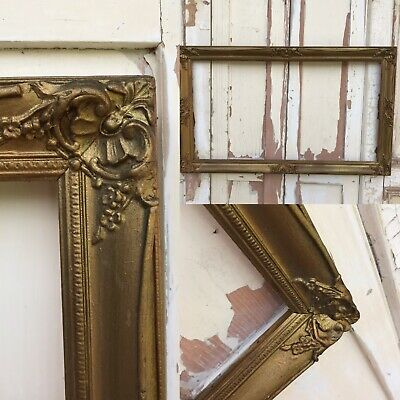 VERY OLD Picture Painting VINTAGE Frame Antique Gilt Gold STUNNING Ornate
