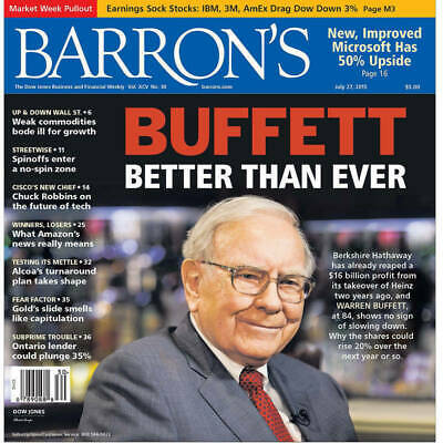 Barron's Subscription 1-YEAR Print Subscription New only (not renewal)