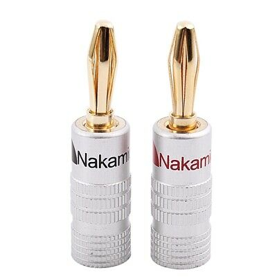 New 24 pcs 24K Gold Nakamichi Speaker banana plug Audio Jack connector N8N7
