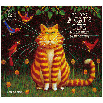 2020 Legacy Calendar A CATS LIFE by Ned Young New Calender Fits Lang Wall Frame