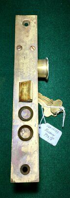 """VINTAGE: RUSSWIN P1248 ENTRY LOCK w/CYLINDER & KEY 7 3/4"""" FACE NICE  (12133)"""