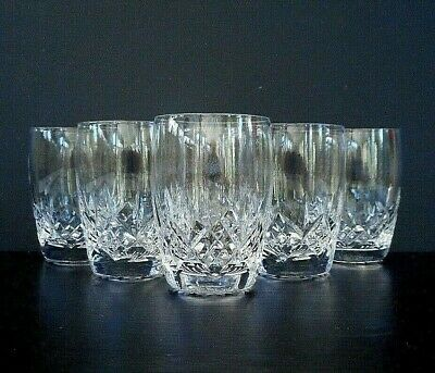 "6 Stuart Glengarry Cambridge barrel shaped flat tumblers - 5 oz - 8.5 cm (3.25"")"