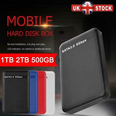 1TB 2TB 2.5'' USB 3.0 External Hard Drive Disk HDD Fit For PC Laptop Portable UK