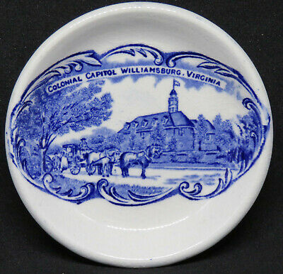 Vintage Butter Pat Plate Colonial Capitol Williamsburg VA by Adams, England