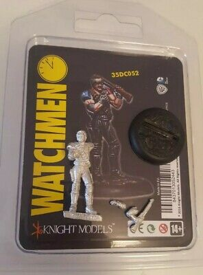 Watchmen The Comedian Knight Models Miniature Oop Rare Metal Il Comico Wb Dc...