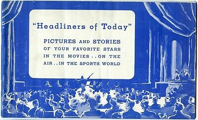 "1935 ""Headliners of Today"" Booklet, Gable,Garbo,Shirley Temple,Gary Cooper etc."