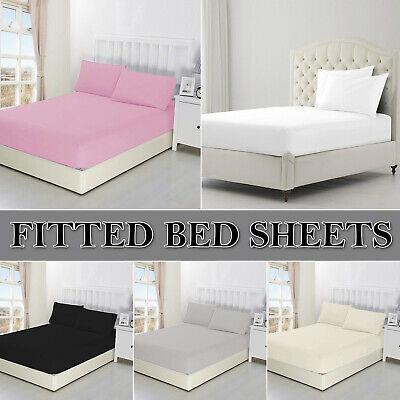 Extra Deep Fitted Sheets Cover Quilt Bed Sheet Size for Bedroom MATTRESS SINGLE