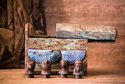 ANCIENT EGYPTIAN CANOPIES| A vintage handcrafted pharaonic tomb| Mummification