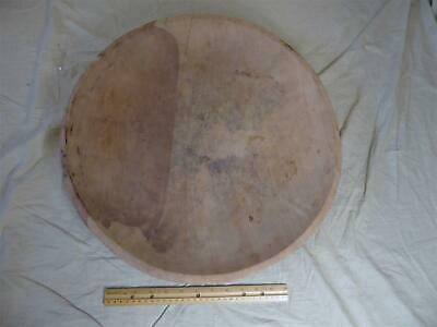 "Large Antique/Primitive 20"" Turned Wood/Wooden Dough Bowl - Very Old"