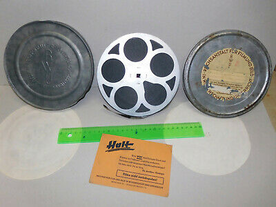 Alter 16mm Film Filmrolle Metalldose RFDU RFU Reichsstelle Reichsanstalt Film Sa