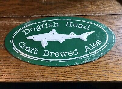 Dogfish Head Craft Beer Brewery Metal Tin Tacker Sign NEW SEALED 15x8'' Man Cave