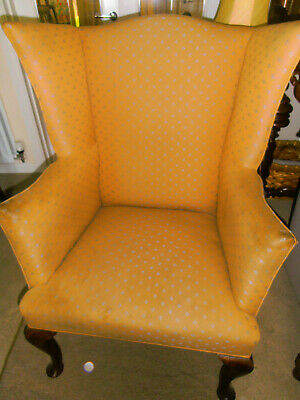 Antique Victorian/Edwardian Wing Back Armchair Chair ~ may need re-covering