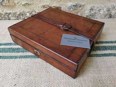 A Tan Leather Document Box