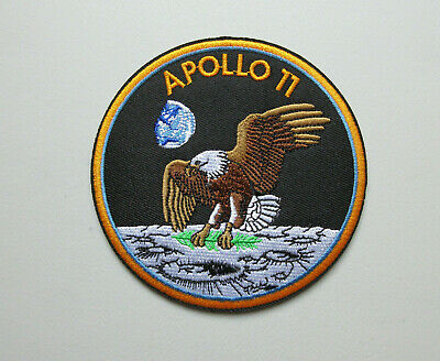 Apollo 11 Space Nasa Embroidered 4 Inch Round Patch   ( U.s.a Seller )