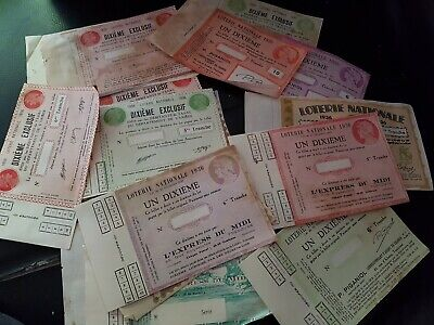 Lot De Billets De Loterie Nationale 1935/36
