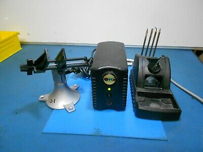 OKI (Metcal) PS-900 Soldering Power Supply, WorkStand & Vise Lot of 7